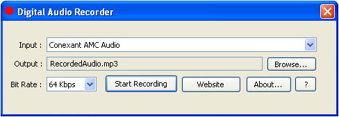 Record any audio to MP3 file